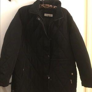 Liz Claiborne quilted Jacket XL Black